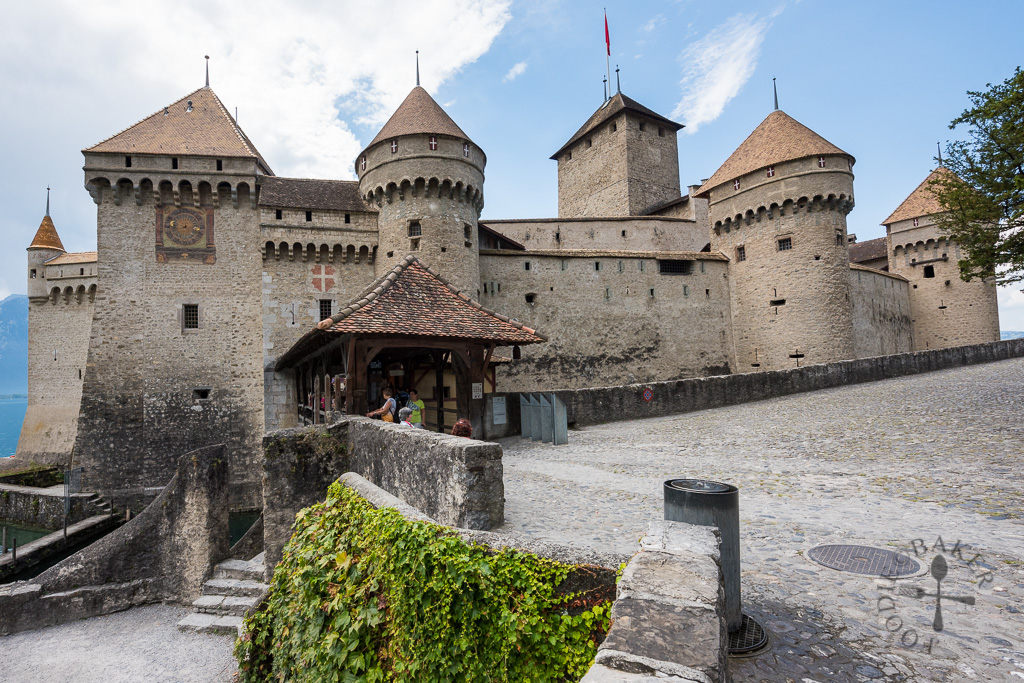 Chillon Castle entrance