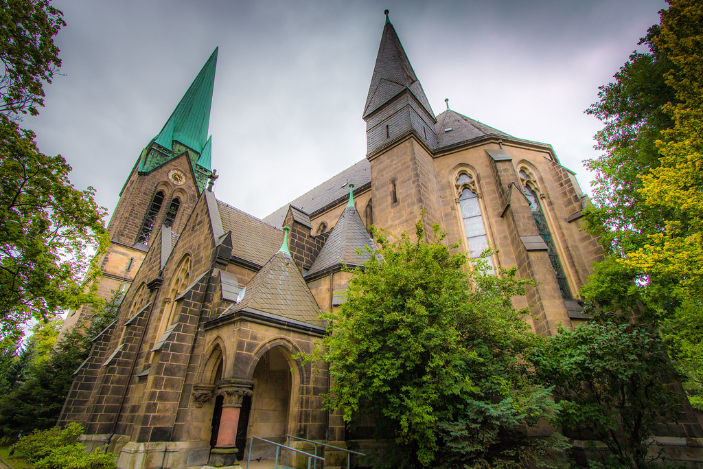Herz Jesu Kirche Dresden Sacred Heart Church Dresden Flickr