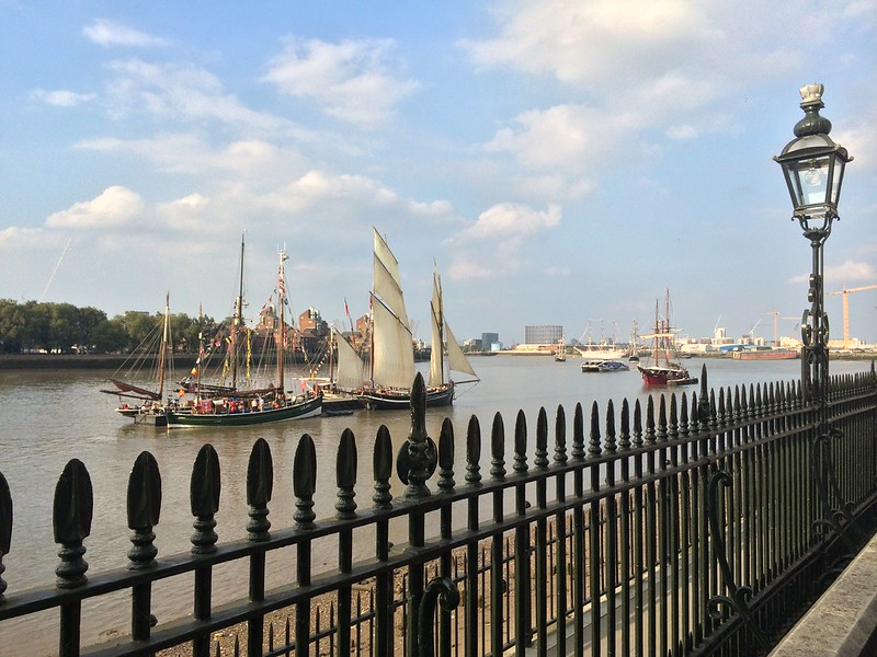 Tall Ships and a Thames Clipper