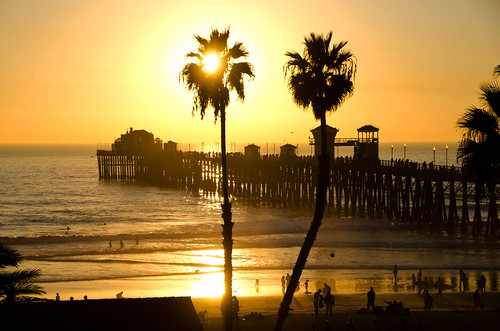 Sunset over the pier, Oceanside California