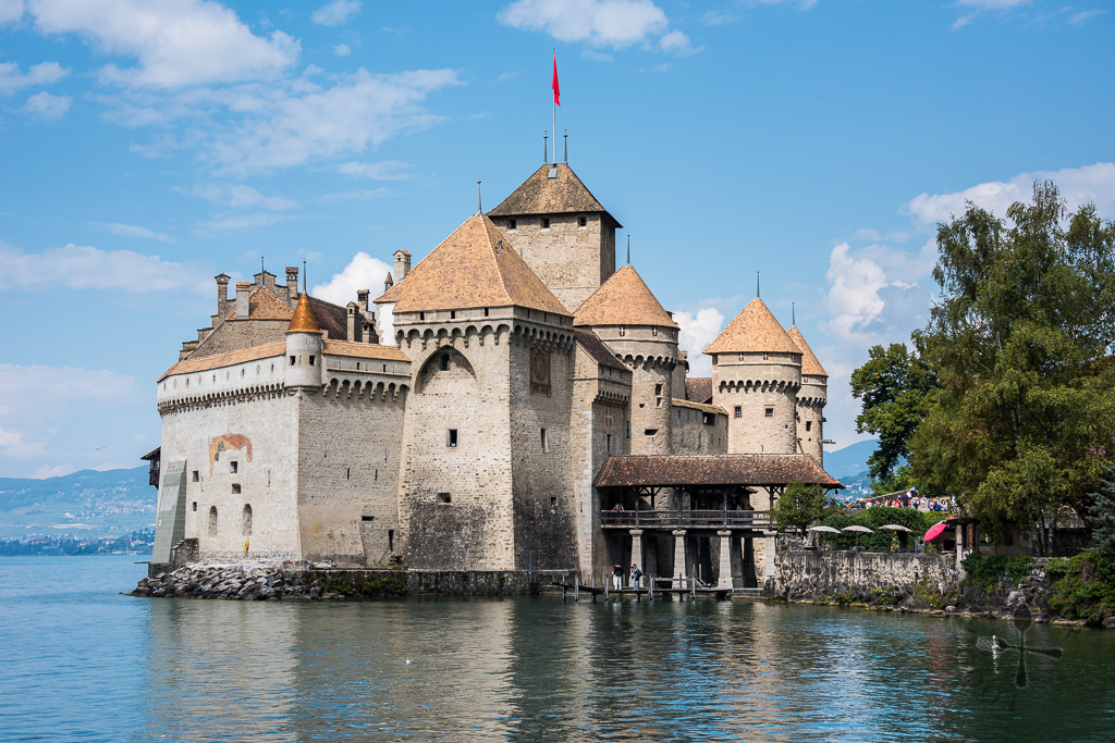 Chillon Castle from the port