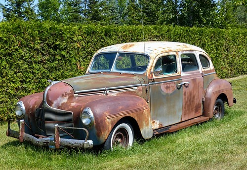 Rusty old 1940 dodge 4 door sedan route 23 between for 1940 dodge 4 door sedan