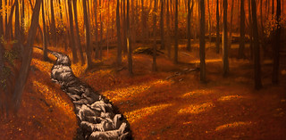 Autumn woods pano 7 | by Geoff doc