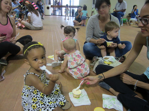 Toddlers celebrated the end of SRP with an ice cream social. | by Harris County Public Library