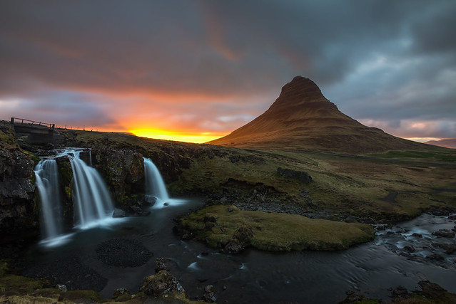 Mount Kirkjufell at Sunset