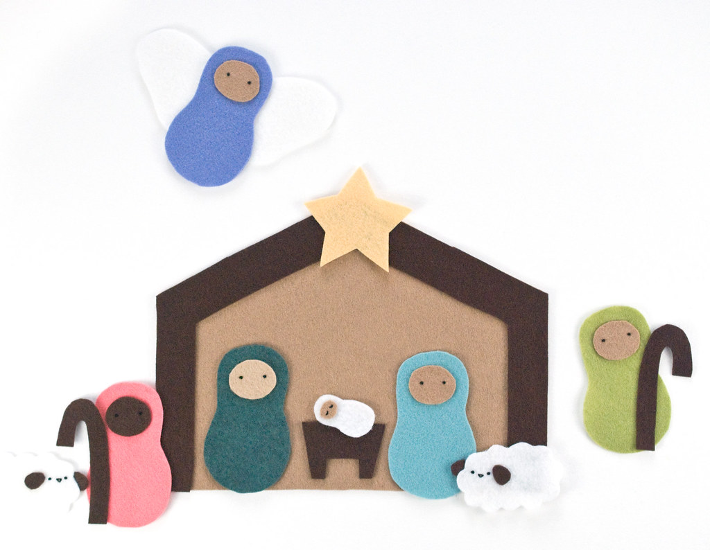 The Stable - Felt Nativity Playset