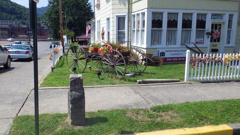 Center of the City cornerstone ~ Williamson, West Virginia.