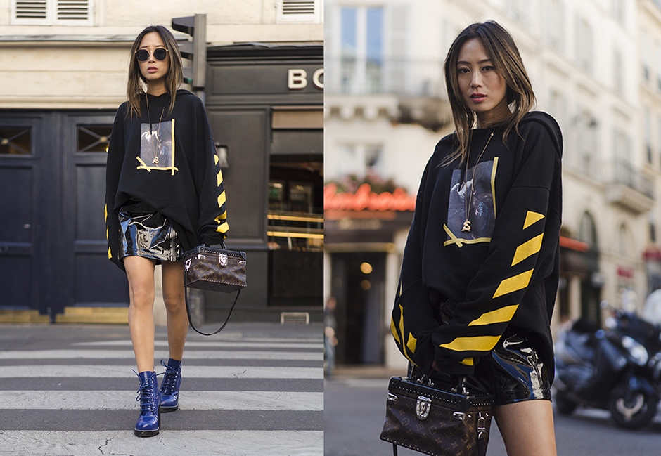 hoodie-mini-skirt-outfit-street-style