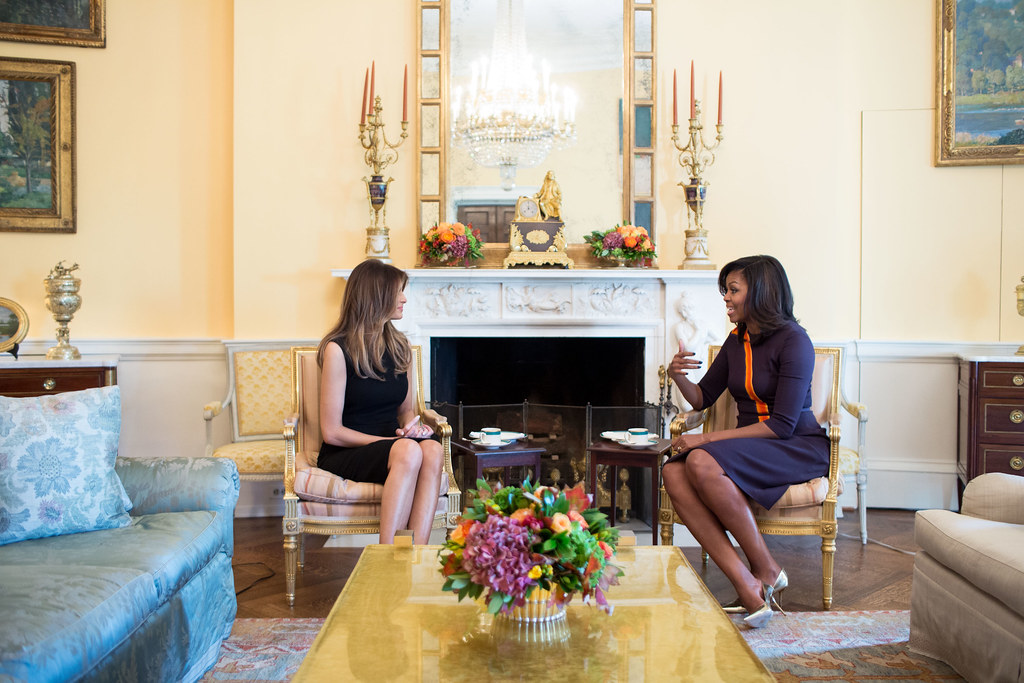 Studio Ovale Obama : P ck first lady michelle obama meets with melaniu flickr