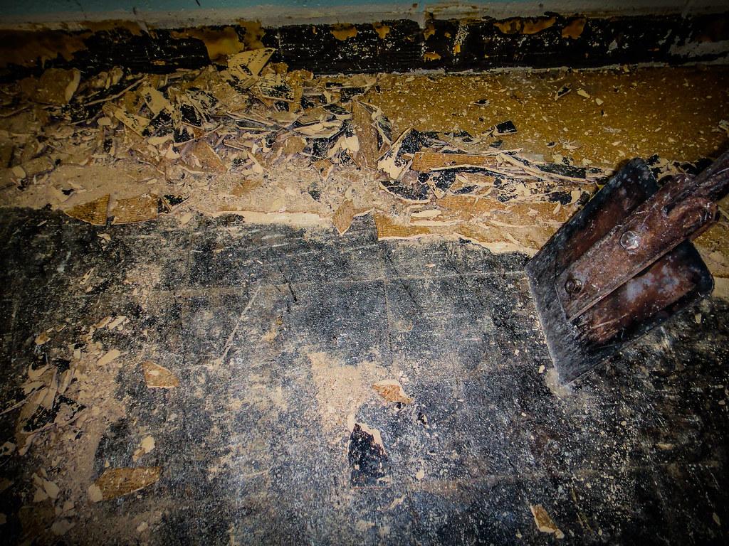 Asbestos Abatement: Pulverized Asbestos Floor Tile | Flickr