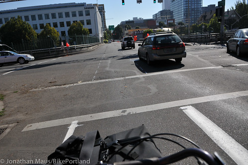 new buffered bike lane NE Everett-28 | by BikePortland.org