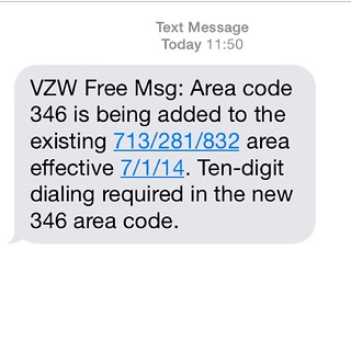 FOUR* area codes for Houston, now?! #Yikes   Dariel Newman