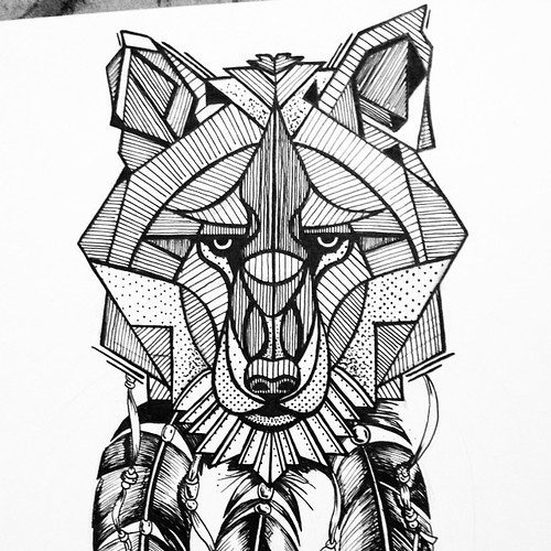 Hungry like the geometric wolf #wolf #face #portrait #geom ...