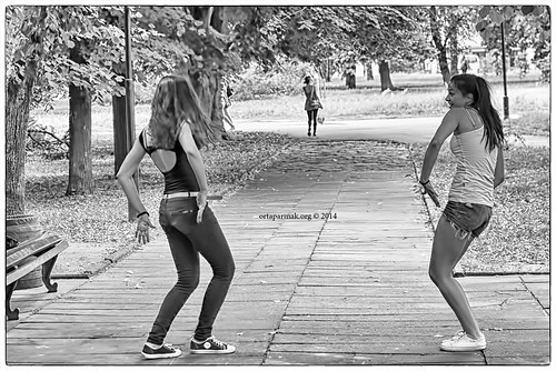 Girls Dancing (BW) | by Ortaparmak Photography