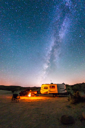 Camping Under The Milky Way In Anza Borrego Desert State P