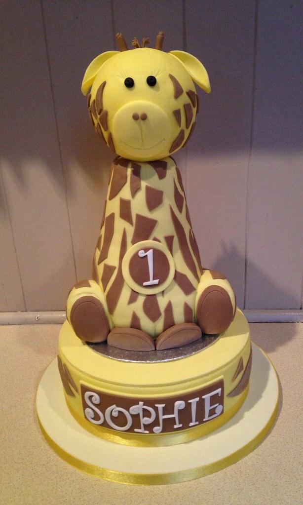 1st Birthday Giraffe Cake Mr Crumbs Cakery Wibsey Flickr