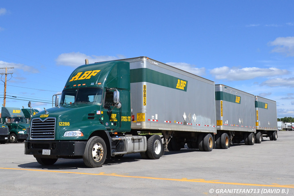 ... ABF Freight Mack Pinnacle with Triples | by Trucks, Buses, & Trains by granitefan713