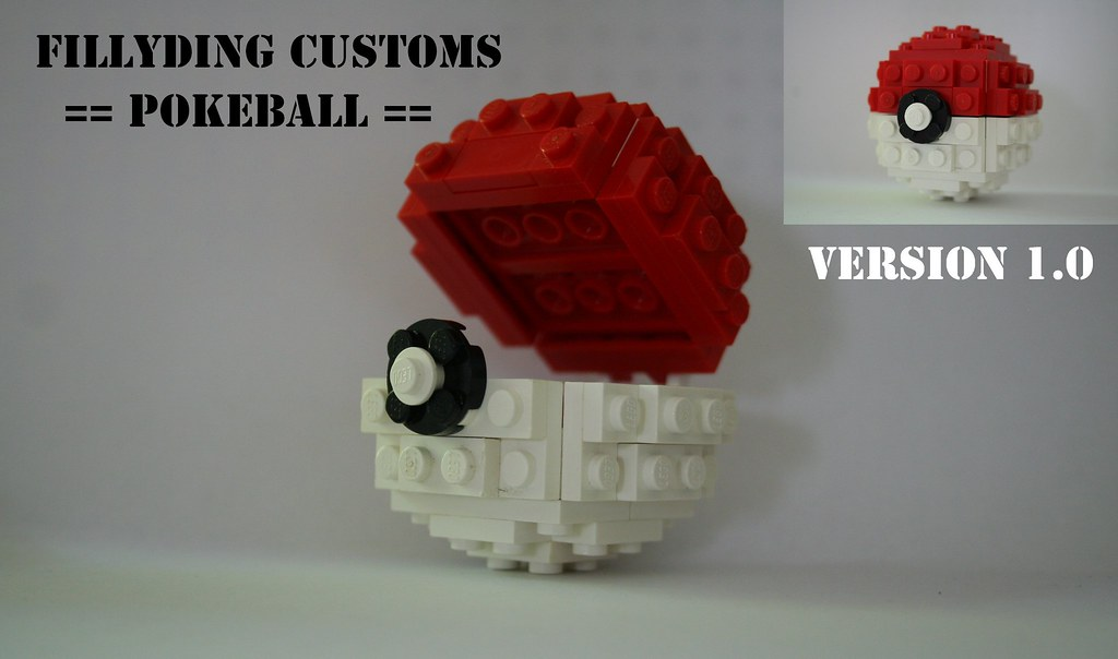 LEGO POKEBALL | Made this over a year ago but just made it s… | Flickr