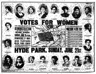 "21st June 1908 - ""Votes For Women"" : Hyde Park Rally 