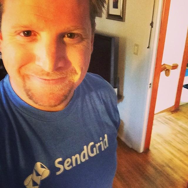 wearing a sendgrid t shirt in honor of jimfranklin runni flickr