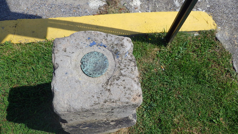 Center of the City cornerstone ~ Williamson, West Virginia.