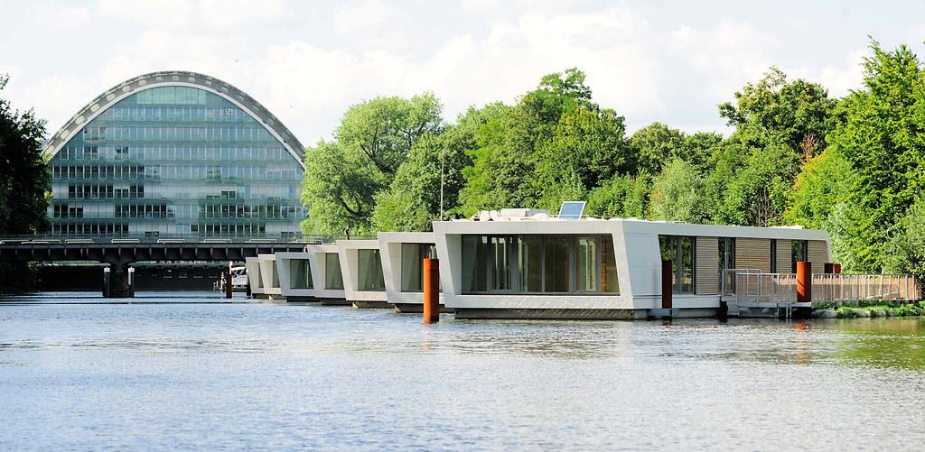 Hausboot Hamburg 6447 bürogebäude berliner bogen am hochwasserbassin in ham flickr