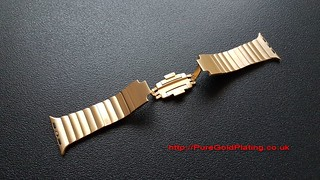 18ct Gold Plated Apple Watch Bracelet | by PureGoldPlating