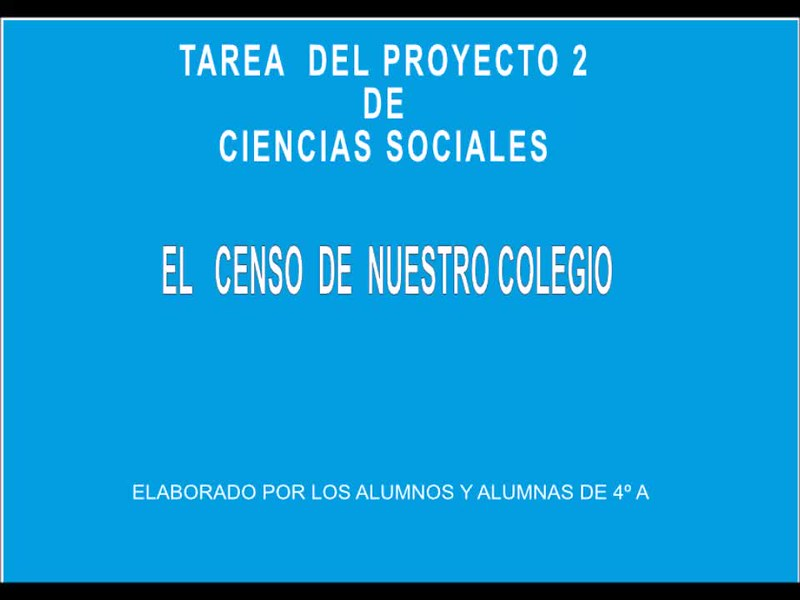 Tarea Proyecto 2, 4º. C.sociales