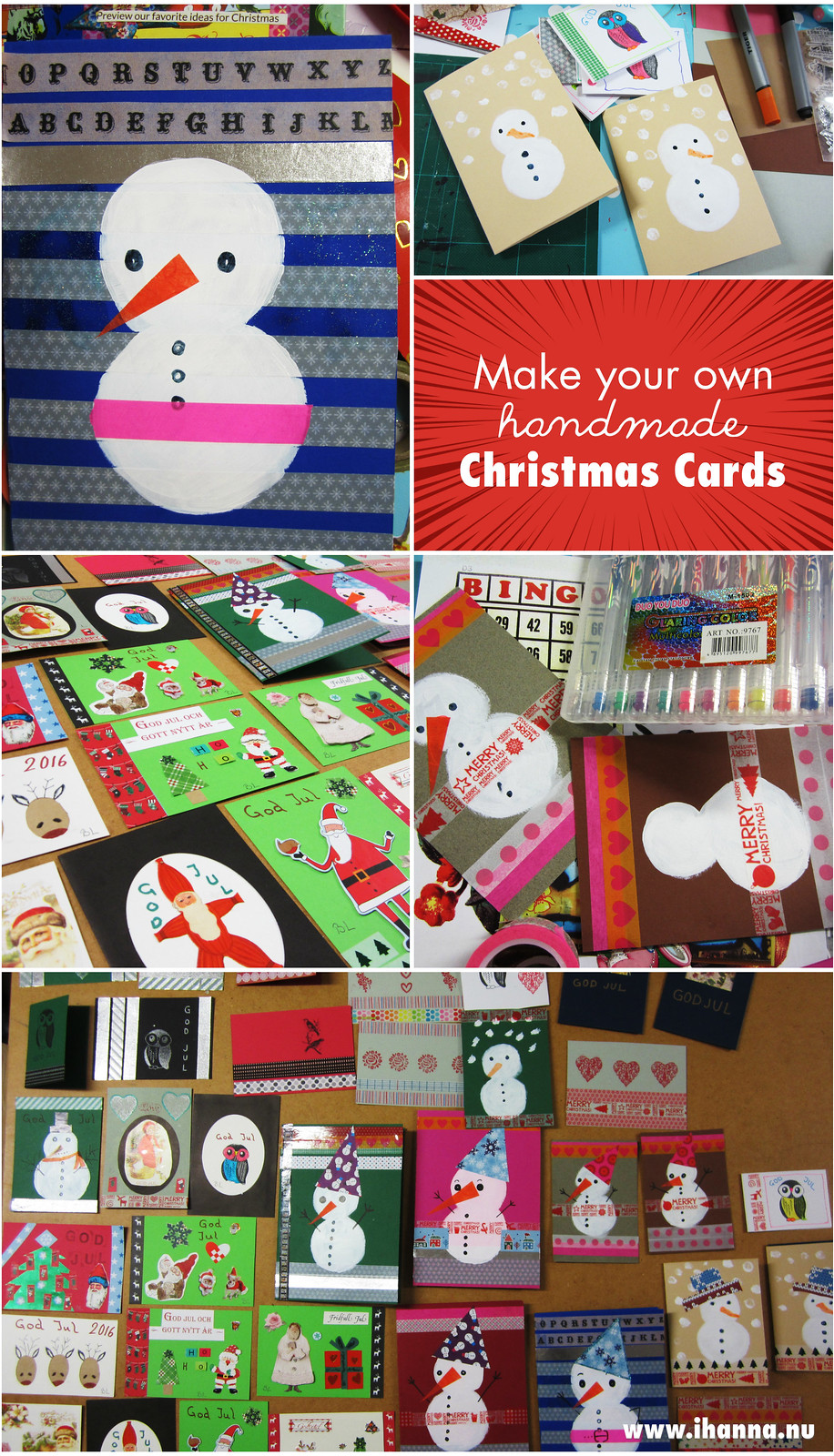 Make your own handmade Christmas Cards and send out some jolly good Christmas Crafting Spirit
