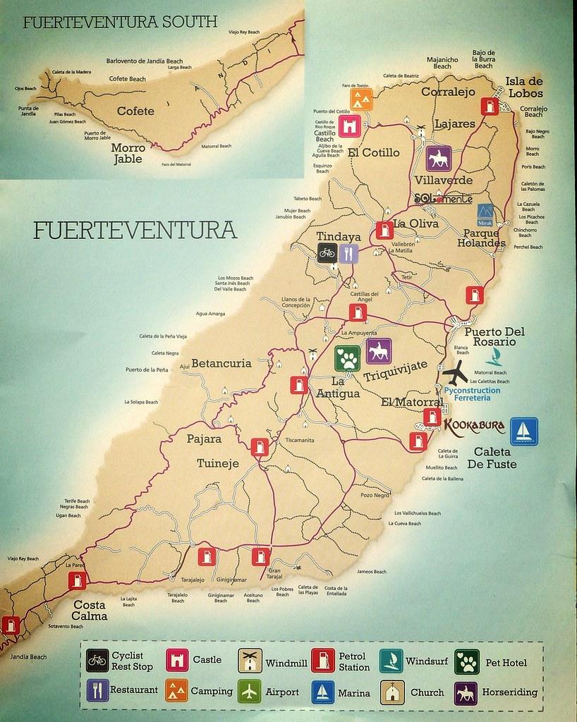 Fuerteventura Tourist Map velton Flickr