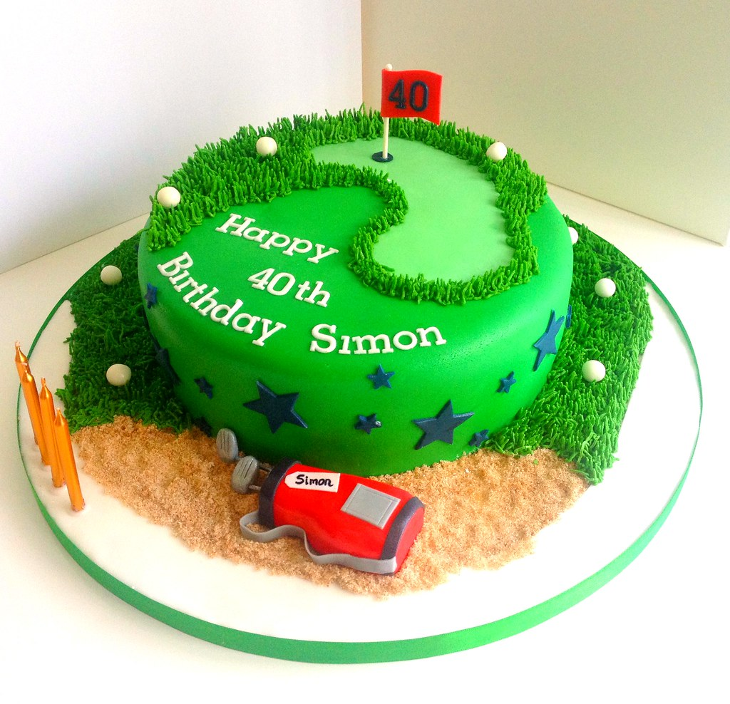 Golf Birthday Cake Heavenly Cupcakes Flickr
