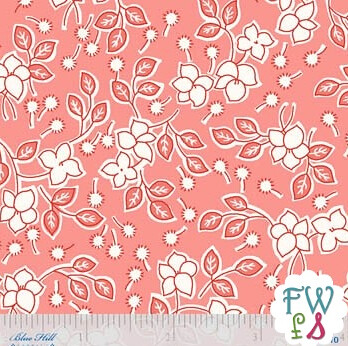 Toybox IV Flowers & Sprigs Pink - Blue Hill Fabrics | by Charm About You
