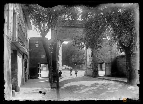 Puerta del carmen 1916 ahpz archivo coyne casa coyne y for Puerta blindada antigua casa gutierrez