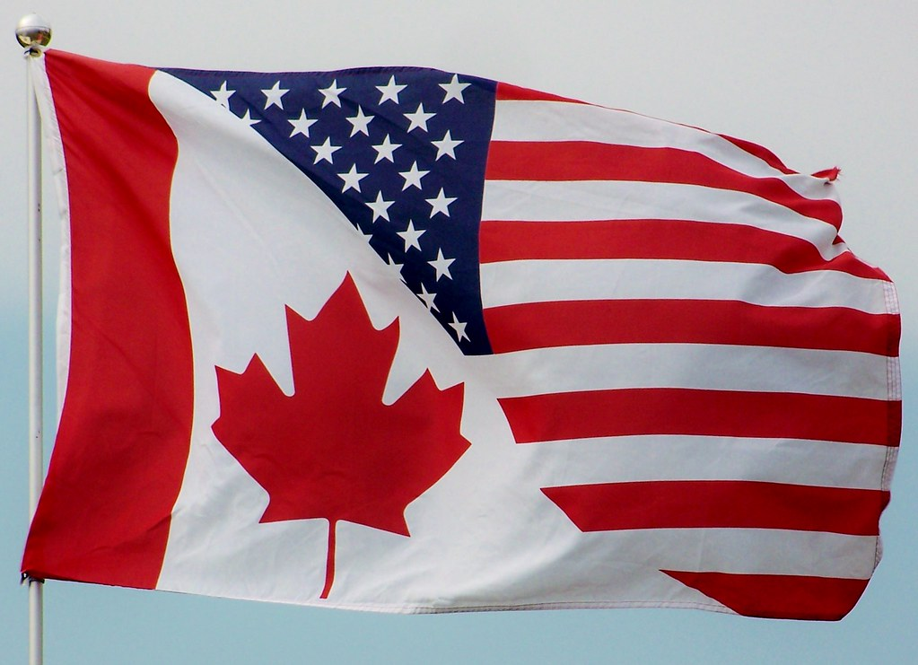 combined american and canadian flag from a vexillological flickr