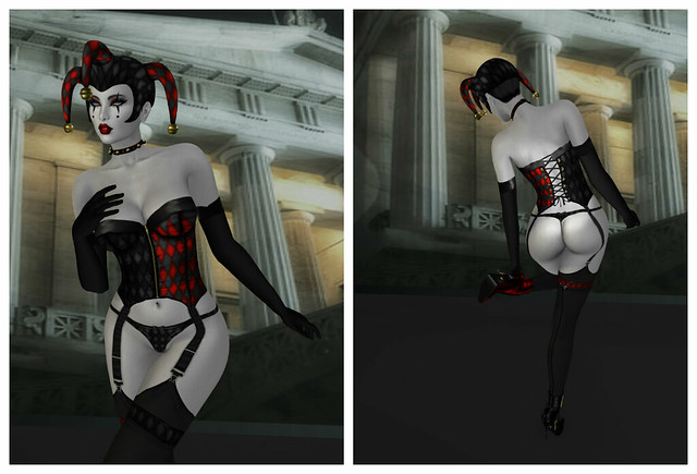 Harley costume, Carries Lingerie ( includes skin, choker and boots)