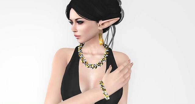 Musa Plate Earrings&CubeFlow Set