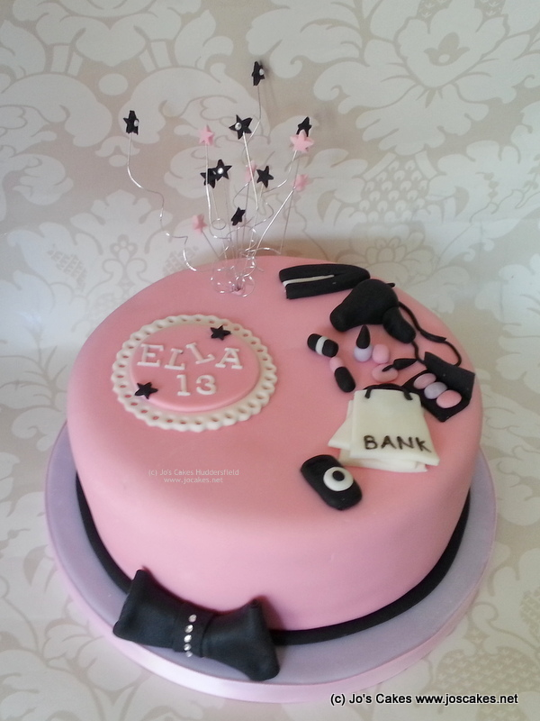 Pink And Purple Girly Sparkly 13th Birthday Cake Idea Flickr