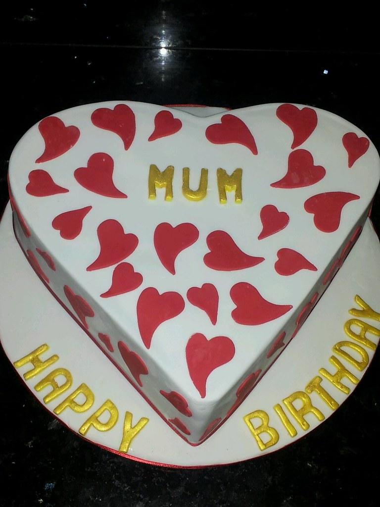 Heart Shaped Birthday Cake Koula Kakopieros Flickr