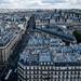 La rue de Rivoli et l'Hôtel de ville vus de la Tour Saint-Jacques