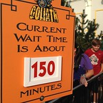 Queue Wait Time, Goliath at Six Flags Great America