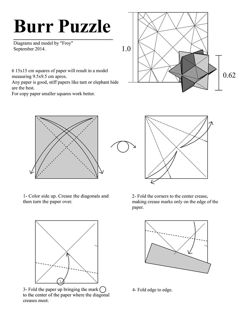Origami Burr Puzzle Page 1 Para Yadira Well Here It Is G Flickr