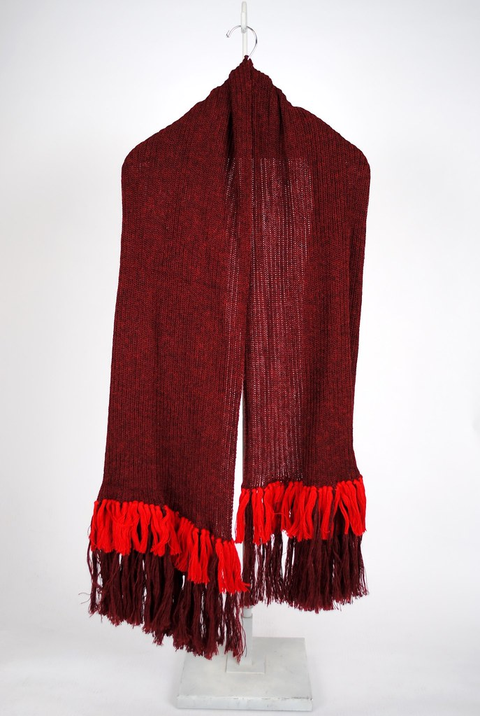 Loulou Maroon Scarf