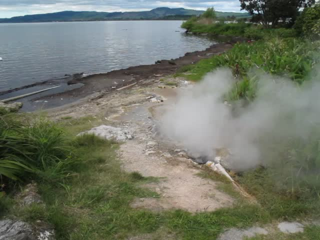 At the edge of Lake Rotorua, by St Faith's Church