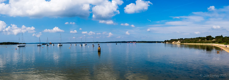 Panorama of Poole Harbour from Lake Pier
