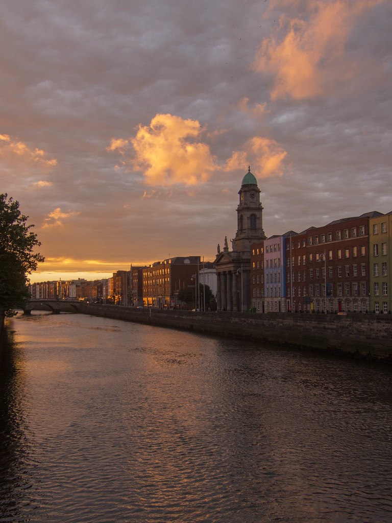 Dublin at golden hour