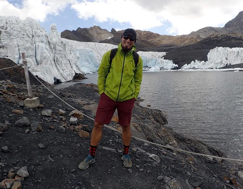 En el glaciar Pastoruri.