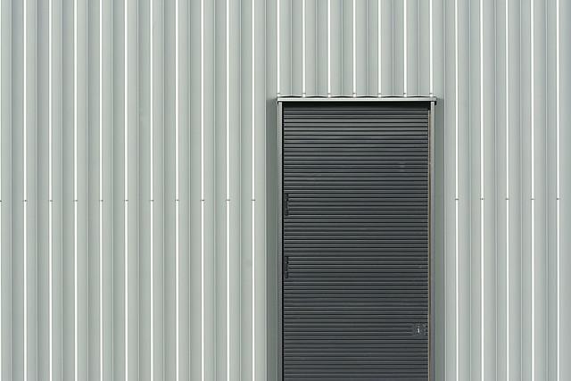 Grey door, grey wall