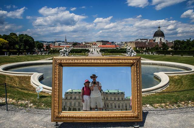 Scenery selfie in Belveder