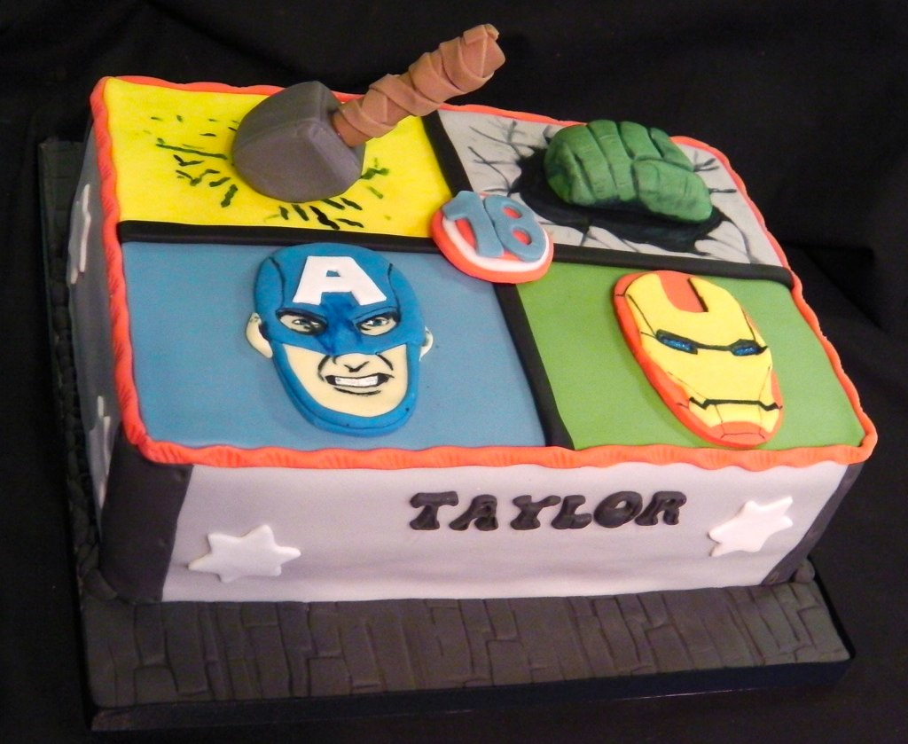 AvengersMarvel Birthday Celebration Cake Mandys Homemade Cakes