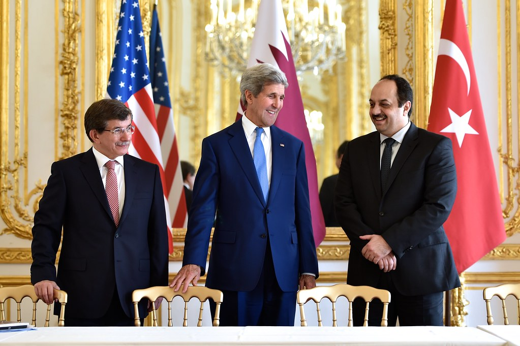 Secretary Kerry, Foreign Ministers From Turkey and Qatar Hold Trilateral Meeting in Paris Focused on Reaching Cease-Fire in Gaza Strip